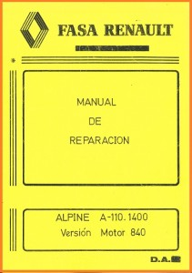 Manual RN Alpine A110 1400 FASA