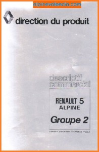 PORTADA DESCRIPCION COMERCIAL R5 ALPINE GRII