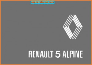 PORTADA MANUAL CONDUCTOR R5 ALPINE